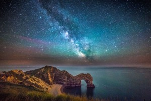 Durdle Door Under Milky Way