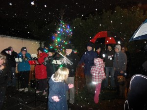 Hail brings the carols to a premature end